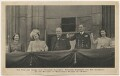 Queen Elizabeth II; Queen Elizabeth, the Queen Mother; Winston Churchill; King George VI; Princess Margaret, published by Raphael Tuck & Sons - NPG x198144