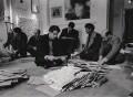 Paul Keeler; Sérgio de Camargo; Guy Brett; Christopher Walker; David Medalla; Gustav Metzger, by Clay Perry - NPG x199156