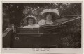 'Isabel Jay and daugther on their Spyker car' (Isabel Jay; Hon. Cecilia Claribel Anderson (née Cavendish)), by Foulsham & Banfield, published by  Rotary Photographic Co Ltd - NPG x198159