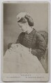 Possibly Harriet Sarah (née Loyd), Lady Wantage with child, by Hills & Saunders - NPG Ax139317