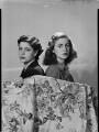 Stella Ward (née Carcano y Morra), Viscountess Ednam; Ana Inez Astor (née Carcano y Morra), by Francis Goodman - NPG x195642