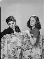 Stella Ward (née Carcano y Morra), Viscountess Ednam; Ana Inez Astor (née Carcano y Morra), by Francis Goodman - NPG x195643