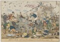 Battle Royal Between the Whig National School Boys & the Tory Charity Crabs, by and published by Gabriel Shire Tregear, and by  Charles Jameson Grant - NPG D46056