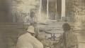 Winston Churchill; Walter Edward Guinness, 1st Baron Moyne of Bury St Edmunds; Clementine Ogilvy Spencer-Churchill (née Hozier), Baroness Spencer-Churchill, by Lady Evelyn Hilda Stuart Moyne (née Erskine) - NPG Ax183170