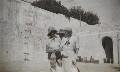 Probably Josephine ('Posy') Lee Guinness (née Strangman); Winston Churchill; Clementine Ogilvy Spencer-Churchill (née Hozier), Baroness Spencer-Churchill, by Lady Evelyn Hilda Stuart Moyne (née Erskine) - NPG Ax183205