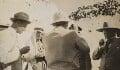 Walter Edward Guinness, 1st Baron Moyne of Bury St Edmunds; Frederick Gerard Peake; Winston Churchill; Clementine Ogilvy Spencer-Churchill (née Hozier), Baroness Spencer-Churchill, by Lady Evelyn Hilda Stuart Moyne (née Erskine) - NPG Ax183252
