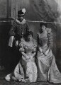 Haakon VII, King of Norway when Prince Charles of Denmark with Maud, Queen of Norway when Princess Charles of Denmark and Princess Victoria of Wales as Ladies of the Court of Marguerite de Valois, by Lafayette (Lafayette Ltd) - NPG Ax36418