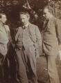 Oliver Strachey; G.E. Moore; John Maynard Keynes, Baron Keynes, by Rachel Pearsall Conn ('Ray') Strachey (née Costelloe) - NPG Ax160965