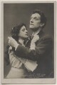Gertrude Elliott as Maisie and Sir Johnston Forbes-Robertson as Dick Heldar in 'The Light that Failed', by Lizzie Caswall Smith, published by  Rotary Photographic Co Ltd - NPG x196499