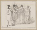The Waits, by John ('HB') Doyle, printed by  General Lithographic Establishment, published by  Thomas McLean - NPG D46360