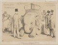 A Lesson in Elephant Riding!, by John ('HB') Doyle, printed by  General Lithographic Establishment, published by  Thomas McLean - NPG D46363