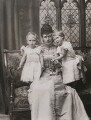 'The Duchess of York with Princes Albert and Edward', by Alice Hughes - NPG x199340