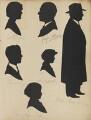 Archibald Layford; Elsie Jones; Suzanne Viola; Godfrey A. Cowry; John Gifford; Ralph Burnham, by Hubert John Leslie - NPG D46414