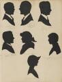 Harold Dobell; J.R.B. Sanders; W. F. Smith; Edna M. Harris; Jocelyn Barr; Gordon Selfridge; Winifred M. Barr, by Hubert John Leslie - NPG D46416
