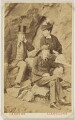 Thomas Stevenson; Robert Louis Stevenson; Margaret Isabella Stevenson (née Balfour), by William Silvester Laroche - NPG P2026