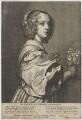 Margaret Lemon, by Wenceslaus Hollar, published by  Hendrick van der Borcht the Elder, after  Sir Anthony van Dyck - NPG D47399