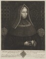 Lady Margaret Beaufort, Countess of Richmond and Derby, by John Faber Sr, printed and published by  Timothy Jordan, after  Unknown artist - NPG D47403