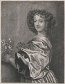 Nell Gwyn (Margaret Lemon with the head altered to Nell Gwyn), by Richard Gaywood, after  Sir Anthony van Dyck, and head after  Gerard Valck, after  Sir Peter Lely - NPG D47402
