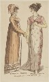 Morning dress and Full dress, February 1807, by R. Sands, published by  Vernor, Hood & Sharpe, published for  Lady's Monthly Museum - NPG D47503