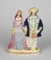 Anne Boleyn; King Henry VIII, by Staffordshire Potteries - NPG D48089