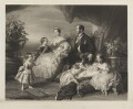 Queen Victoria, the Prince Consort and family, by Samuel Cousins, published by  Thomas Boys, and  Ernest Gambart & Co, after  Franz Xaver Winterhalter - NPG D48098