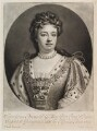 Queen Anne, by and published by John Smith, after  Sir Godfrey Kneller, Bt - NPG D11921