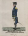 Sir George Young ('A first rate man of war, taken from the dockyard, Plymouth'), by and published by Robert Dighton - NPG D8864
