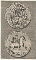 King William III portrayed on the Great Seal, by James Mynde, after  Unknown artist - NPG D1245