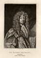 Sir John Chicheley (inscribed 'Sir Richard Chicheley'), by Robert Dunkarton, after  Sir Peter Lely - NPG D1440