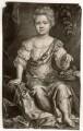 Elizabeth Cooper, by William Faithorne Jr, published by  Edward Cooper, after  Sir Peter Lely - NPG D1524