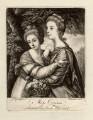 'Miss Crusses' (Elizabeth Hinchliffe (née Crewe); Emma Crewe), by Richard Brookshaw, published for  John Bowles, after  Sir Joshua Reynolds - NPG D1600