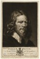 Abraham van der Doort (inscribed 'Dobson's Father'), by Valentine Green, possibly after  William Dobson - NPG D1645