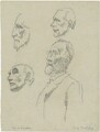 Arthur Foley Winnington-Ingram; Charles Lindley Wood, 2nd Viscount Halifax, by Powys Evans - NPG D1680