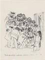 Unveiling of NPG 5749 Trade Unionists (Joe Gormley; Sidney Weighell; Harold Wilson; Hans Schwarz), by Hans Schwarz - NPG D196