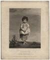 Lady Gertrude Fitzpatrick ('Childhood'), by J. Sanders, published by  James Bulcock, after  Sir Joshua Reynolds - NPG D1960