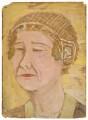 Alda von Anrep, by Rachel Pearsall Conn ('Ray') Strachey (née Costelloe) - NPG D201