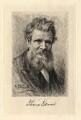 Thomas Edward, by Paul Adolphe Rajon, after  Sir George Reid - NPG D2295