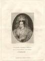 Possibly Frances Devereux (née Walsingham), Countess of Essex, by Henry Richard Cook, published by and after  Silvester Harding, after  Nicholas Hilliard - NPG D2313