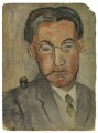 Oliver Strachey, by Rachel Pearsall Conn ('Ray') Strachey (née Costelloe) - NPG D238
