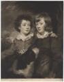 Henry Gawler; John Bellenden Gawler (later Ker), by John Raphael Smith, after  Sir Joshua Reynolds - NPG D2425