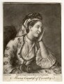 Maria (née Gunning), Countess of Coventry, by Richard Houston, published by  Carington Bowles, after  Jean Etienne Liotard - NPG D2533
