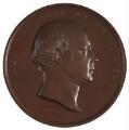 Sir Francis Leggatt Chantrey; James Watt (on reverse), by William Wyon, after  William Bain, and after  Sir Francis Leggatt Chantrey - NPG D2912