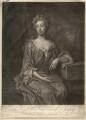Anne Villiers (née Egerton), Countess of Jersey, by John Faber Jr, after  Sir Godfrey Kneller, Bt - NPG D3173