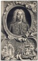 George Frideric Handel, by Jacobus Houbraken, by  Hubert-François Gravelot (né Bourguignon) - NPG D3214