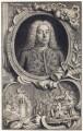 George Frideric Handel, by Jacobus Houbraken, by  Hubert-François Gravelot (né Bourguignon) - NPG D3215