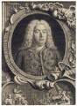 George Frideric Handel, by Jacobus Houbraken, by  Hubert-François Gravelot (né Bourguignon) - NPG D3216