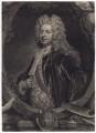 Sir Godfrey Kneller, Bt, by John Faber Jr, after  John Vanderbank, after  Sir Godfrey Kneller, Bt - NPG D3440