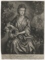 Sarah Plowden (née Chicheley), by William Faithorne Jr, published by  Edward Cooper, after  John Closterman - NPG D3927