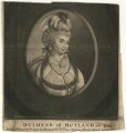 Mary Isabella Manners (née Somerset), Duchess of Rutland, printed for Robert Sayer, printed for  John Bennett - NPG D4212
