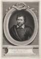 Benjamin Jonson, by George Vertue, after  Gerrit van Honthorst, after  Abraham van Blyenberch - NPG D4474